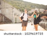 young freelancing photographers ... | Shutterstock . vector #1029619735
