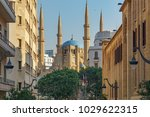 beautiful street in beirut... | Shutterstock . vector #1029622315