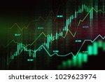 stock market or forex trading... | Shutterstock . vector #1029623974
