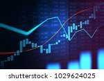 stock market or forex trading... | Shutterstock . vector #1029624025
