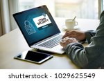 cyber security business ... | Shutterstock . vector #1029625549