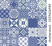 big set of tiles background....   Shutterstock . vector #1029626989