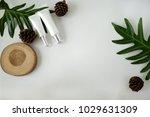 natural cosmetic cream   serum  ... | Shutterstock . vector #1029631309