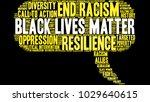 black lives matter word cloud... | Shutterstock .eps vector #1029640615