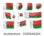 set madagascar flags  banners ... | Shutterstock .eps vector #1029646324