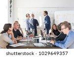 relaxed informal it business... | Shutterstock . vector #1029649357