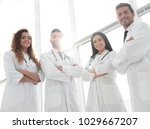 closeup.a group of doctors. | Shutterstock . vector #1029667207