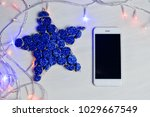 mobile smart phone and led... | Shutterstock . vector #1029667549