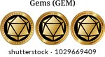 set of physical golden coin... | Shutterstock .eps vector #1029669409