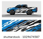 truck car and vehicle racing... | Shutterstock .eps vector #1029674587