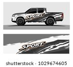 truck car and vehicle racing... | Shutterstock .eps vector #1029674605