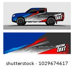 truck car and vehicle racing... | Shutterstock .eps vector #1029674617