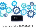 the enter button from laptop... | Shutterstock . vector #1029676111