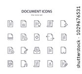 document line icons. | Shutterstock .eps vector #1029676531