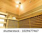 empty sauna room with... | Shutterstock . vector #1029677467