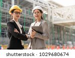 two a professional female...   Shutterstock . vector #1029680674