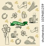saint patricks day elements... | Shutterstock .eps vector #1029681259