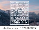 christian verse in the bible... | Shutterstock . vector #1029683305