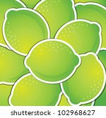 lime sticker background card in ... | Shutterstock .eps vector #102968627