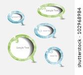 modern creative abstract speech ...   Shutterstock .eps vector #102968984