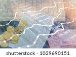 charts of financial instruments ... | Shutterstock . vector #1029690151