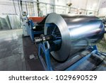 roll of galvanized steel sheet... | Shutterstock . vector #1029690529
