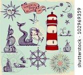 nautical design elements  ...   Shutterstock .eps vector #102969359