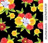 abstract elegance seamless... | Shutterstock . vector #1029694939