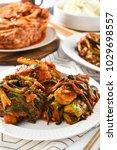 traditional korean kimchi   Shutterstock . vector #1029698557
