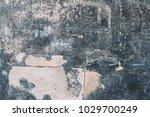 dark blue aged smoked peeled...   Shutterstock . vector #1029700249