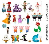 classic fairy tales characters | Shutterstock .eps vector #1029703135