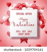 happy valentine's day sale... | Shutterstock .eps vector #1029704161