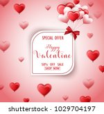 happy valentines day sale card... | Shutterstock .eps vector #1029704197