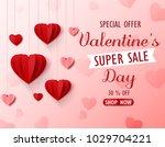 valentines day sale background... | Shutterstock .eps vector #1029704221