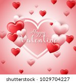 valentines day background with... | Shutterstock .eps vector #1029704227