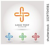 plus and healthcare logo.... | Shutterstock .eps vector #1029704581