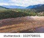 beautiful aerial landscape of... | Shutterstock . vector #1029708031