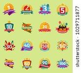 happy birthday anniversary... | Shutterstock .eps vector #1029711877