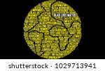 black lives matter word cloud... | Shutterstock .eps vector #1029713941