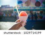 snow cone at fair | Shutterstock . vector #1029714199