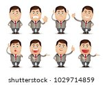 cute people   businessman set  | Shutterstock .eps vector #1029714859