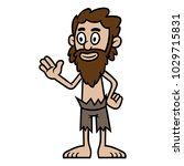 cartoon shipwrecked castaway man | Shutterstock .eps vector #1029715831