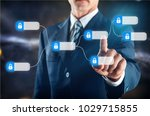 blockchain technology concept | Shutterstock . vector #1029715855