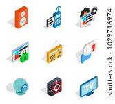 web info icons set. isometric...