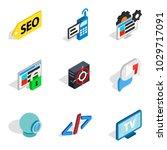 computer biz icons set.... | Shutterstock .eps vector #1029717091