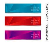 set of web banner label... | Shutterstock .eps vector #1029721249