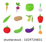 vegetables icon set. cartoon... | Shutterstock .eps vector #1029724831