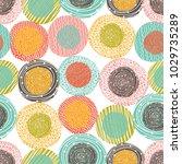 seamless pattern  polka dot...   Shutterstock .eps vector #1029735289