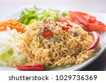 close up the menu is applied by ...   Shutterstock . vector #1029736369