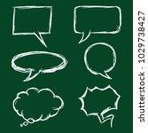 vector set of chalk sketch... | Shutterstock .eps vector #1029738427